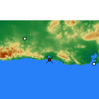 Nearby Forecast Locations - Sant. Cuba - Map
